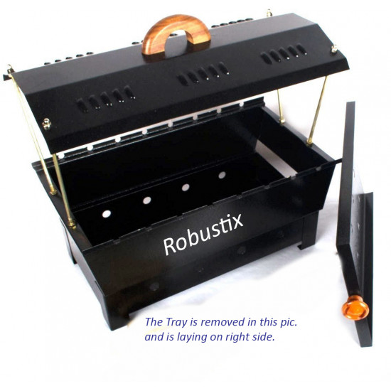 Robustix Barbeque Charcoal Grill BBQ (Bar be Que) - with Shade