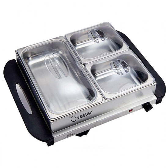Ovastar OWBS 3426 Electric Food Wamer - Buffet Server 3 Containers