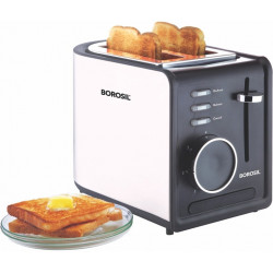 Borosil BTO850WSS21 850 W Pop Up Toaster 2 Slice
