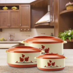 Milton Orchid Junior Casserole Set Pack of 3 Thermoware  (450 ml, 790 ml, 1260 ml)