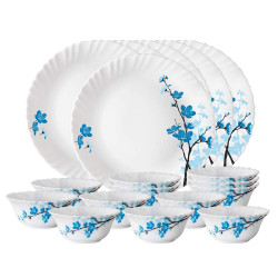 Borosil Larah Thali Set - 18pc Dinner Set