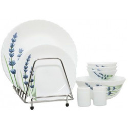 Laopala 20pc Opalware Dinner Set - English Lavender