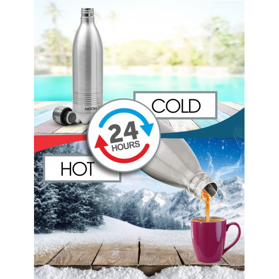 Milton 1000 ml Flask Duo Dlx Thermosteel (24hr Hot & Cold) Stainless Steel Bottle