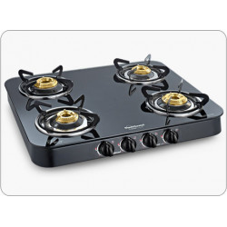 Sunflame Crystal 4 Burner Gas Glass Top