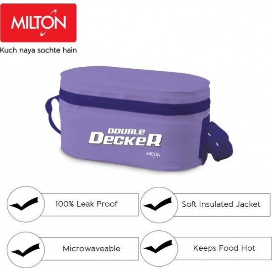 Milton Double Decor Lunch box 3 Containers Lunch Box (800 ml)