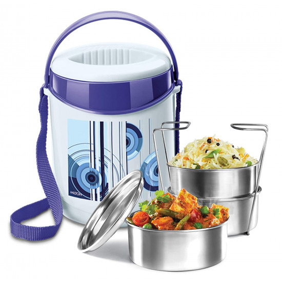 Milton Econa 3 Stainless Steel Tiffin Box (3 Containers)