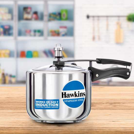 Hawkins Stainless Steel 3 Lits Induction Bace Pressure Cooker hss3t Tall