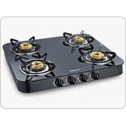 Sunflame Crystal Curve 4 Burner Gas Stove Black Color